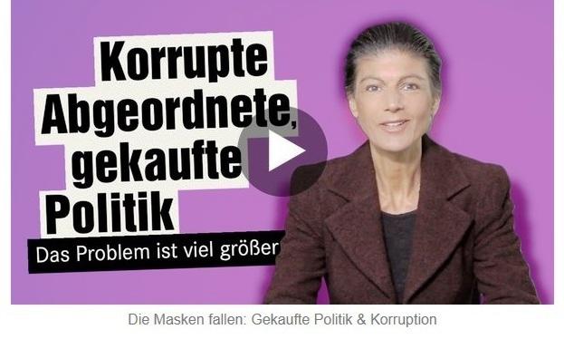 Aus dem Posteingang von Dr. Sahra Wagenknecht (MdB) - Team Sahra 11.03.2021 - In der Union fallen die Masken - Korruption & Lobbyismus in der Politik - Abschnitt 2 von 5 Abschnitten