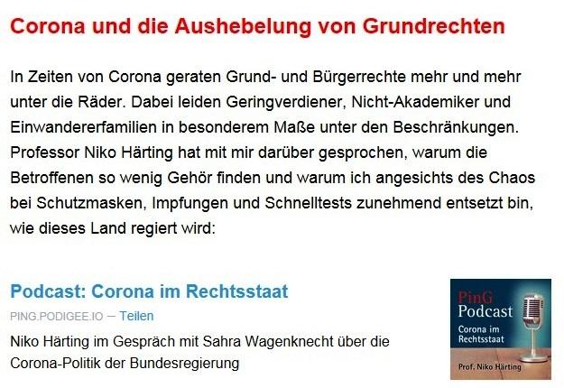 Aus dem Posteingang von Dr. Sahra Wagenknecht (MdB) - Team Sahra 11.03.2021 - In der Union fallen die Masken - Korruption & Lobbyismus in der Politik - Abschnitt 4 von 5 Abschnitten