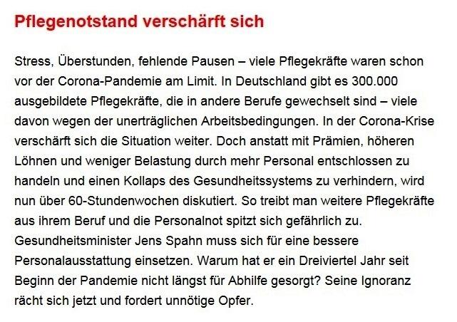 Aus dem Posteingang von Dr. Sahra Wagenknecht (MdB) - Team Sahra 12.10.2020 - Böser Trump, guter Biden? Warum wir uns keine Illusionen machen sollten - Abschnitt 3