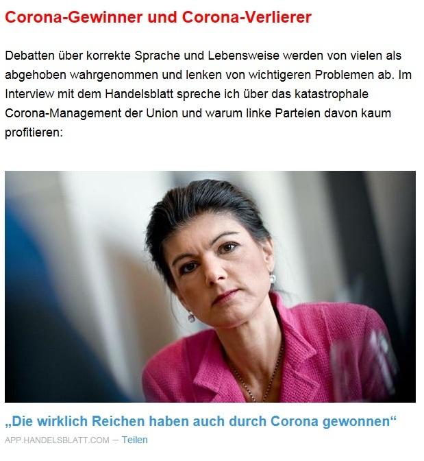 Aus dem Posteingang von Dr. Sahra Wagenknecht (MdB) - Team Sahra 15.04.2021 - Die Selbstgerechten - Anstoß zu einer nötigen Debatte - Abschnitt 3