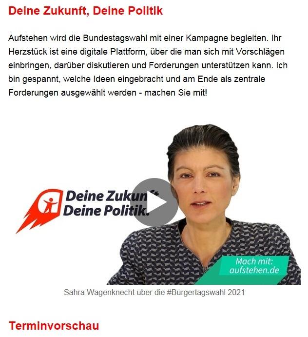Aus dem Posteingang von Dr. Sahra Wagenknecht (MdB) - Team Sahra 15.04.2021 - Die Selbstgerechten - Anstoß zu einer nötigen Debatte - Abschnitt 9