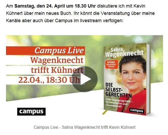 Aus dem Posteingang von Dr. Sahra Wagenknecht (MdB) - Team Sahra 15.04.2021 - Die Selbstgerechten - Anstoß zu einer nötigen Debatte - Abschnitt 11