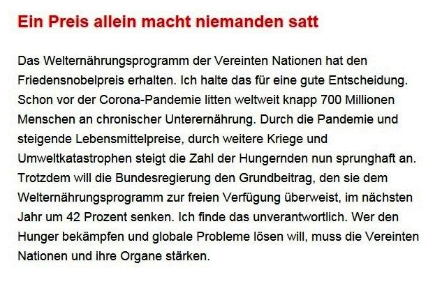 Aus dem Posteingang von Dr. Sahra Wagenknecht (MdB) - Team Sahra 15.10.2020 - Nur solidarische Politik hilft aus der Krise -Abschnitt 5