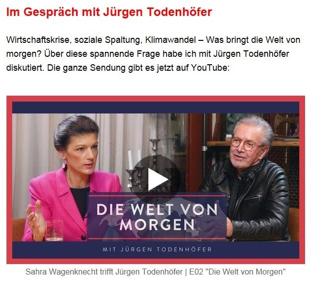 Aus dem Posteingang von Dr. Sahra Wagenknecht (MdB) - Team Sahra 17.12.2020 - Frohe Weihnachten und ein gesundes neues Jahr! - Abschnitt 6