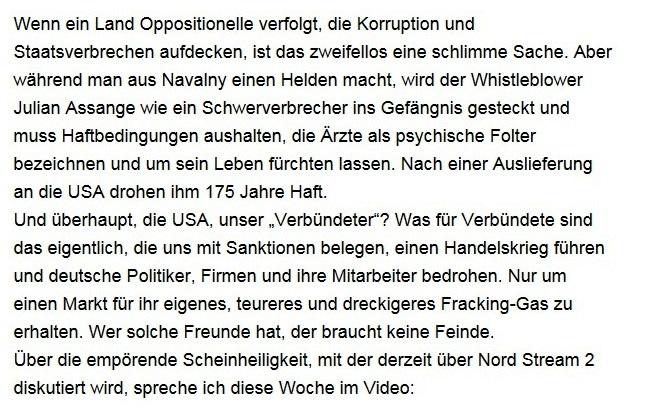 Aus dem Posteingang von Dr. Sahra Wagenknecht (MdB) - Team Sahra 18.09.2020 - Scheinheilig und verlogen: Die Debatte um Nordstream II - Abschnitt 2