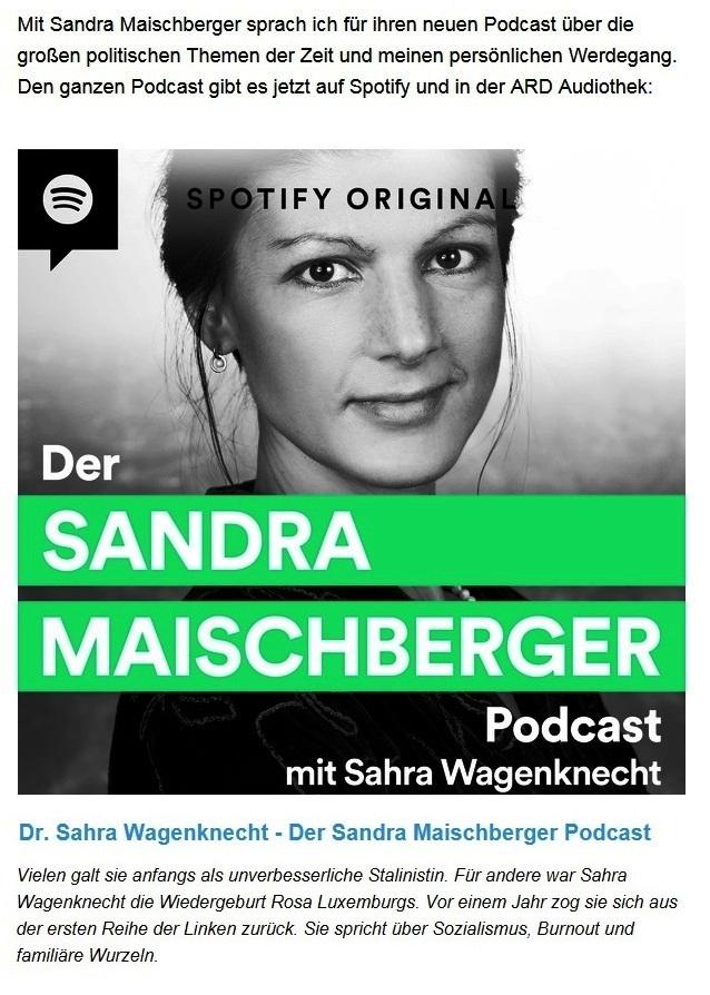 Aus dem Posteingang von Dr. Sahra Wagenknecht (MdB) - Team Sahra 19.11.2020 - Der Kampf gegen das Virus darf nicht länger abseits demokratischer Kontrolle stattfinden - Abschnitt 2