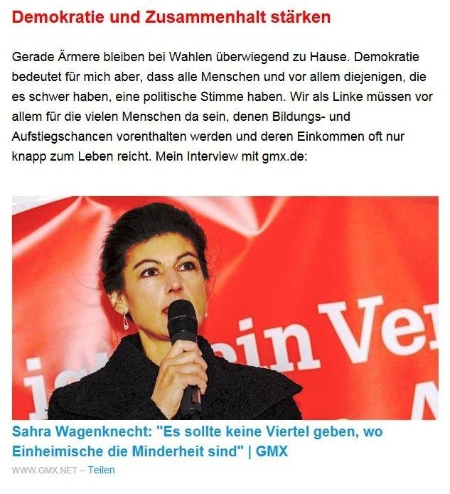 Aus dem Posteingang von Dr. Sahra Wagenknecht (MdB) - Team Sahra 20.05.2021 - Was ist heute links? - Abschnitt 3