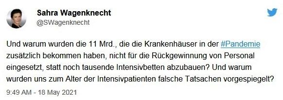 Aus dem Posteingang von Dr. Sahra Wagenknecht (MdB) - Team Sahra 20.05.2021 - Was ist heute links? - Abschnitt 6