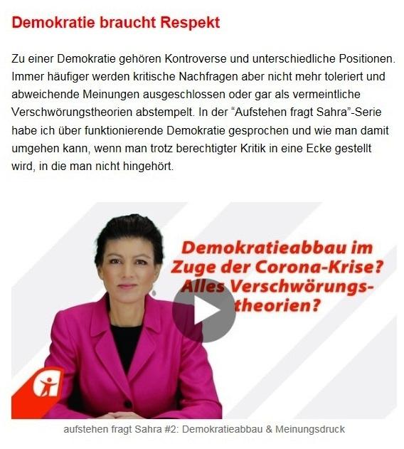 Aus dem Posteingang von Dr. Sahra Wagenknecht (MdB) - Team Sahra 21.01.2021 - Warum auch dieser Lockdown nicht die Lösung ist - Abschnitt 5