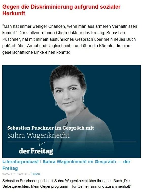 Aus dem Posteingang von Dr. Sahra Wagenknecht (MdB) - Team Sahra 22.04.2021 - Diese 'Notbremse' wird Nöte steigern - Abschnitt 6 - Link: https://www.freitag.de/autoren/podcast/sahra-wagenknecht-im-gespraech?utm_campaign=Sahra%20Wagenknecht&utm_medium=email&utm_source=Revue%20newsletter