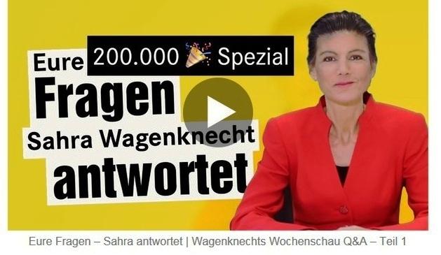Aus dem Posteingang von Dr. Sahra Wagenknecht (MdB) - Team Sahra 25.03.2021 - Chaostage im Kanzleramt - weiß Merkel noch, was sie tut? - Abschnitt 2 von 6 Abschnitten