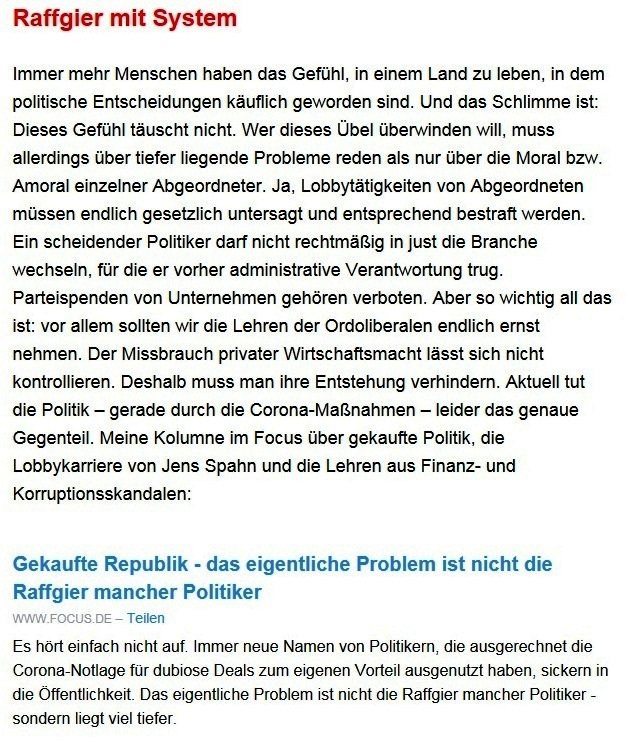 Aus dem Posteingang von Dr. Sahra Wagenknecht (MdB) - Team Sahra 25.03.2021 - Chaostage im Kanzleramt - weiß Merkel noch, was sie tut? - Abschnitt 4 von 6 Abschnitten