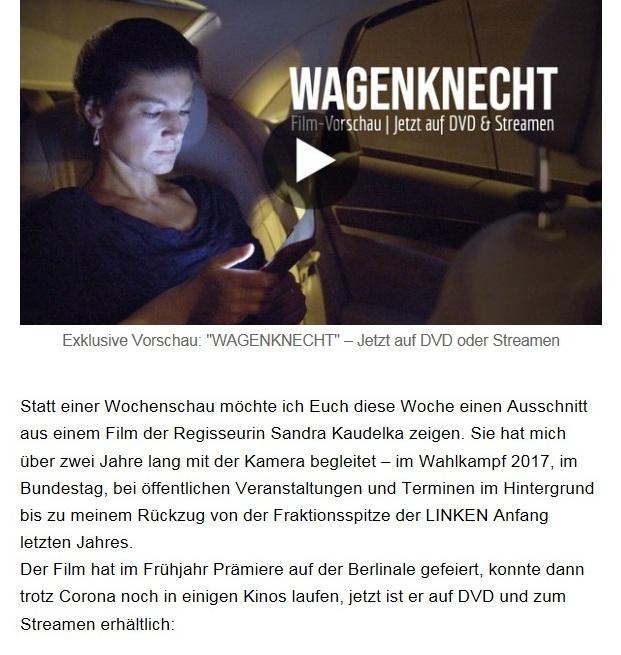 Aus dem Posteingang von Dr. Sahra Wagenknecht (MdB) - Team Sahra 26.11.2020 - Ohne Plan und Strategie – Die Bundesregierung und der nächste Lockdown - Abschnitt 2