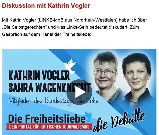 Aus dem Posteingang von Dr. Sahra Wagenknecht (MdB) - Team Sahra 27.05.2021 - Waffen liefern an die Ukraine? Was für ein Irrsinn! - Abschnitt 9 - Link: https://www.youtube.com/watch?v=CUnDlUcddt4