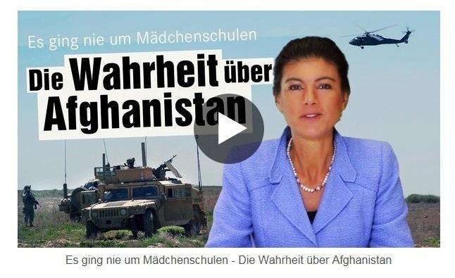 Aus dem Posteingang von Dr. Sahra Wagenknecht (MdB) - Team Sahra 27.08.2021 - Demokratie & Menschenrechte? Worum es beim Krieg in Afghanistan wirklich ging - Abschnitt 2