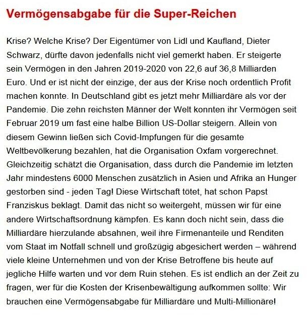 Aus dem Posteingang von Dr. Sahra Wagenknecht (MdB) - Team Sahra 28.01.2021 - Menschenleben zählen nicht - der große Profit der Pharmakonzerne - Abschnitt 5 von 8 Abschnitten