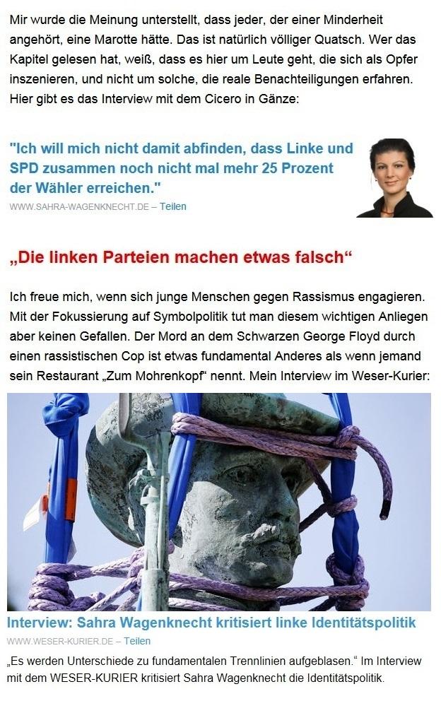 Aus dem Posteingang von Dr. Sahra Wagenknecht (MdB) - Team Sahra 29.04.2021 - #allesdichtmachen - Wie liberal ist unsere Gesellschaft? - Abschnitt 5