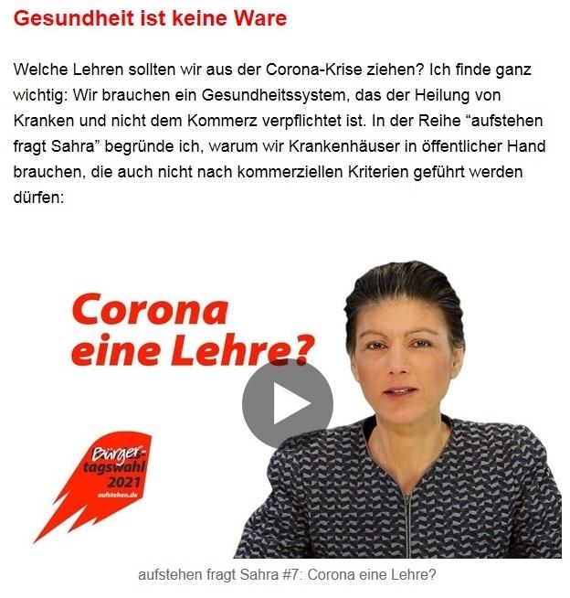 Aus dem Posteingang von Dr. Sahra Wagenknecht (MdB) - Team Sahra 29.04.2021 - #allesdichtmachen - Wie liberal ist unsere Gesellschaft? - Abschnitt 7