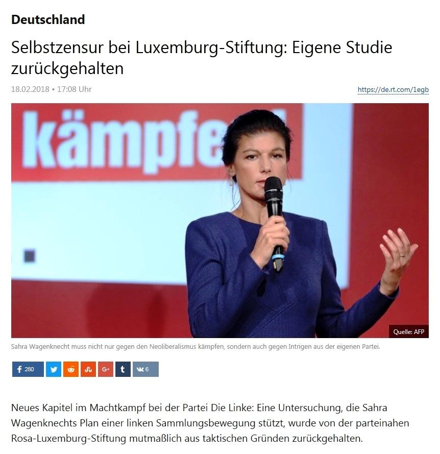 Selbstzensur bei Luxemburg-Stiftung: Eigene Studie zurückgehalten
