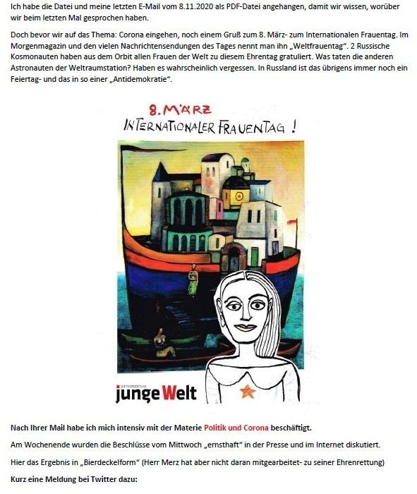 Politik und Corona - E-Mail an Frau Rüsing - Aus dem Posteingang von Siegfried Dienel vom 08.03.2021 - Abschnitt 2