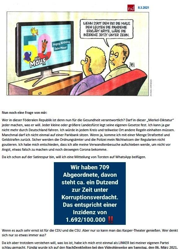 Politik und Corona - E-Mail an Frau Rüsing - Aus dem Posteingang von Siegfried Dienel vom 08.03.2021 - Abschnitt 5