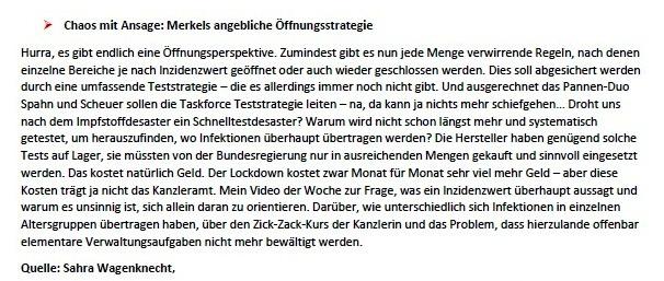 Politik und Corona - E-Mail an Frau Rüsing - Aus dem Posteingang von Siegfried Dienel vom 08.03.2021 - Abschnitt 6