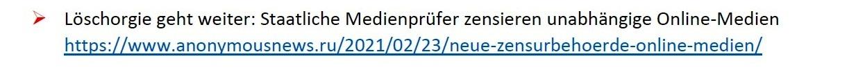 Politik und Corona - E-Mail an Frau Rüsing - Aus dem Posteingang von Siegfried Dienel vom 08.03.2021 - Abschnitt 8 - Link