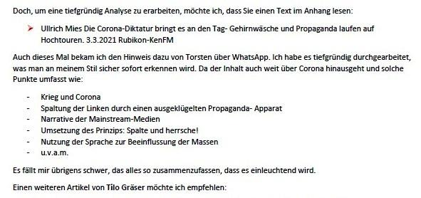 Politik und Corona - E-Mail an Frau Rüsing - Aus dem Posteingang von Siegfried Dienel vom 08.03.2021 - Abschnitt 8
