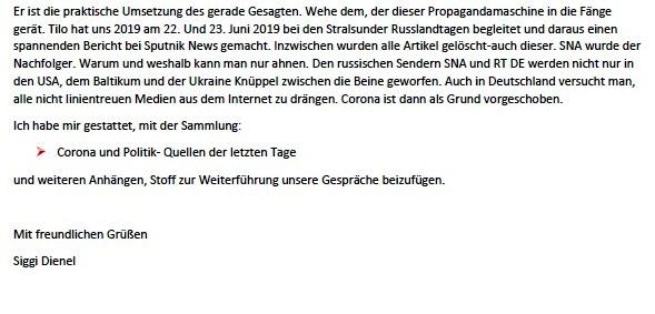 Politik und Corona - E-Mail an Frau Rüsing - Aus dem Posteingang von Siegfried Dienel vom 08.03.2021 - Abschnitt 9