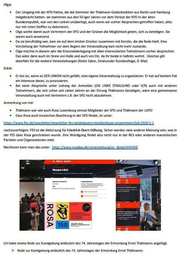 Zur Kritik an der LINKEN - Mail an Olaf vom 11.03.2021 - Aus dem Posteingang von Siegfried Dienel vom 11.03.2021 - Abschnitt 2