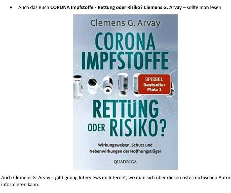 Corona und Politik - Teil 2 - E-Mail an Karoline Rüsing vom 17.03.2021 - Aus dem Posteingang von Siegfried Dienel vom 18.03.2021 - Abschnitt 2