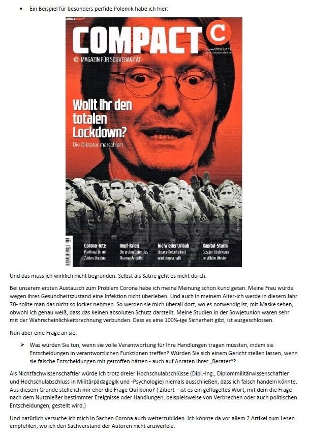Corona und Politik - Teil 2 - E-Mail an Karoline Rüsing vom 17.03.2021 - Aus dem Posteingang von Siegfried Dienel vom 18.03.2021 - Abschnitt 3