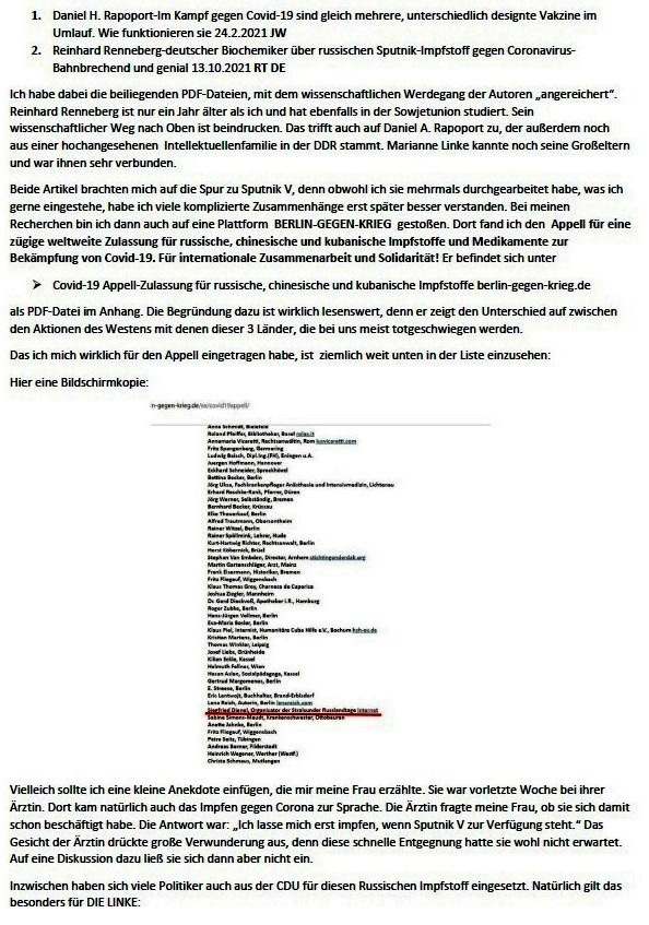 Corona und Politik - Teil 2 - E-Mail an Karoline Rüsing vom 17.03.2021 - Aus dem Posteingang von Siegfried Dienel vom 18.03.2021 - Abschnitt 4
