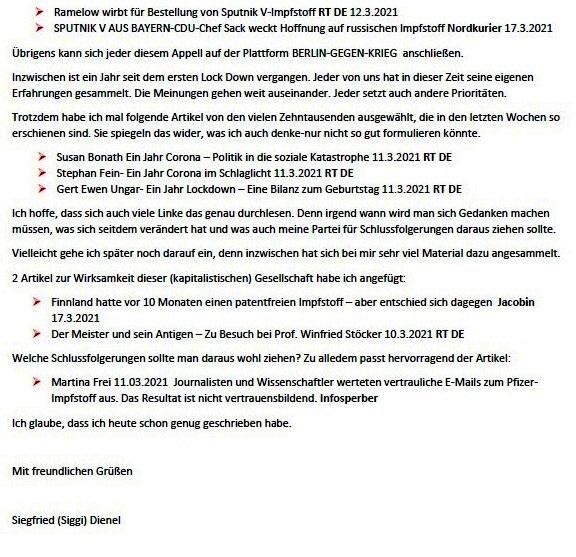 Corona und Politik - Teil 2 - E-Mail an Karoline Rüsing vom 17.03.2021 - Aus dem Posteingang von Siegfried Dienel vom 18.03.2021 - Abschnitt 5