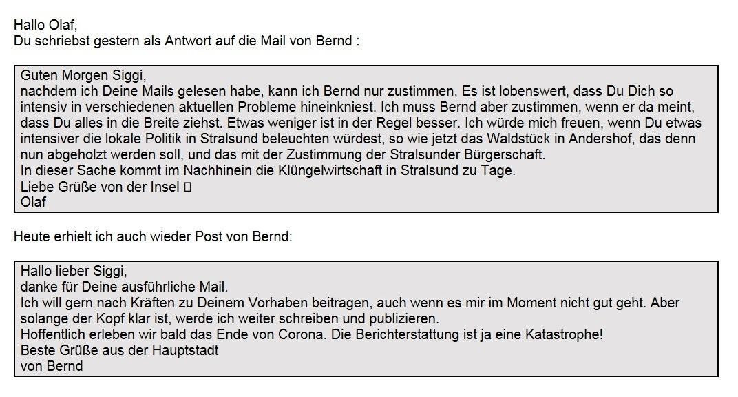 WG: Meinungen und aktuelle Informationen - Aus dem Posteingang von Siegfried Dienel vom 19.02.2021 - Abschnitt 1 von 3 Abschnitten