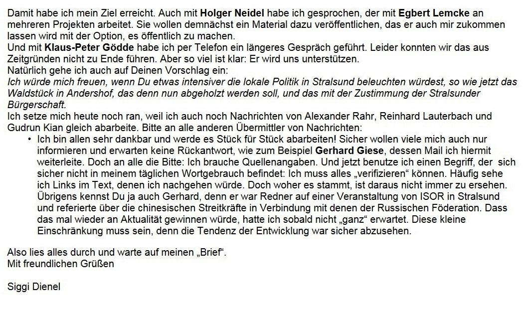 WG: Meinungen und aktuelle Informationen - Aus dem Posteingang von Siegfried Dienel vom 19.02.2021 - Abschnitt 2 von 3 Abschnitten