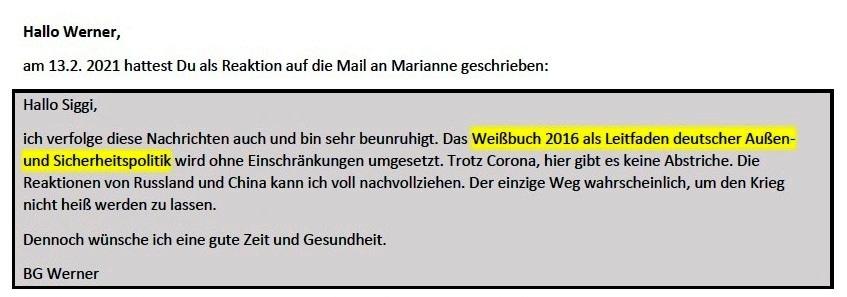 Positionspapier Bundeswehr der Zukunft - Aus dem Posteingang von Siegfried Dienel vom 22.02.2021 - E-Mail an Werner - Abschnitt 1