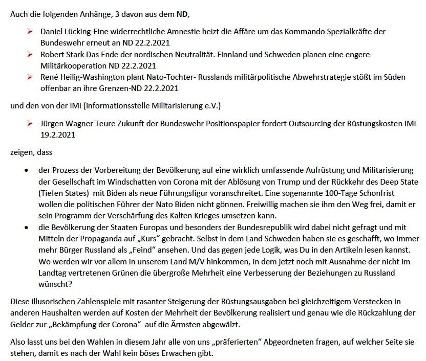 Positionspapier Bundeswehr der Zukunft - Aus dem Posteingang von Siegfried Dienel vom 22.02.2021 - E-Mail an Werner - Abschnitt 2