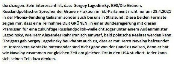 Stand der Vorbereitungen der Arbeit Russlandtage - E-Mail an Professor Edgar Harzfeld am 27.04.2021 - Aus dem Posteingang von Siegfried Dienel vom 27.04.2021 - Abschnitt 2