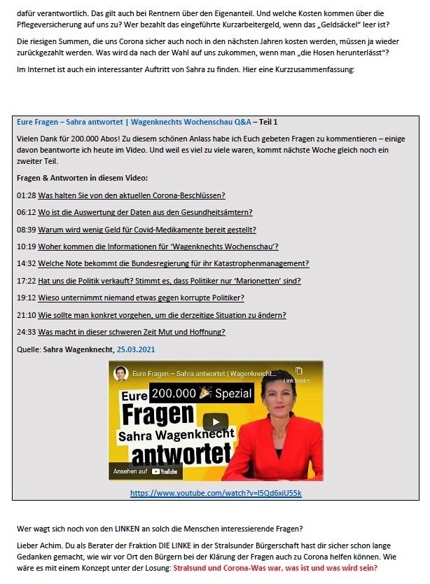Antwort auf die Mail von Achim - Aus dem Posteingang von Siegfried Dienel vom 29.03.2021 - Abschnitt 5