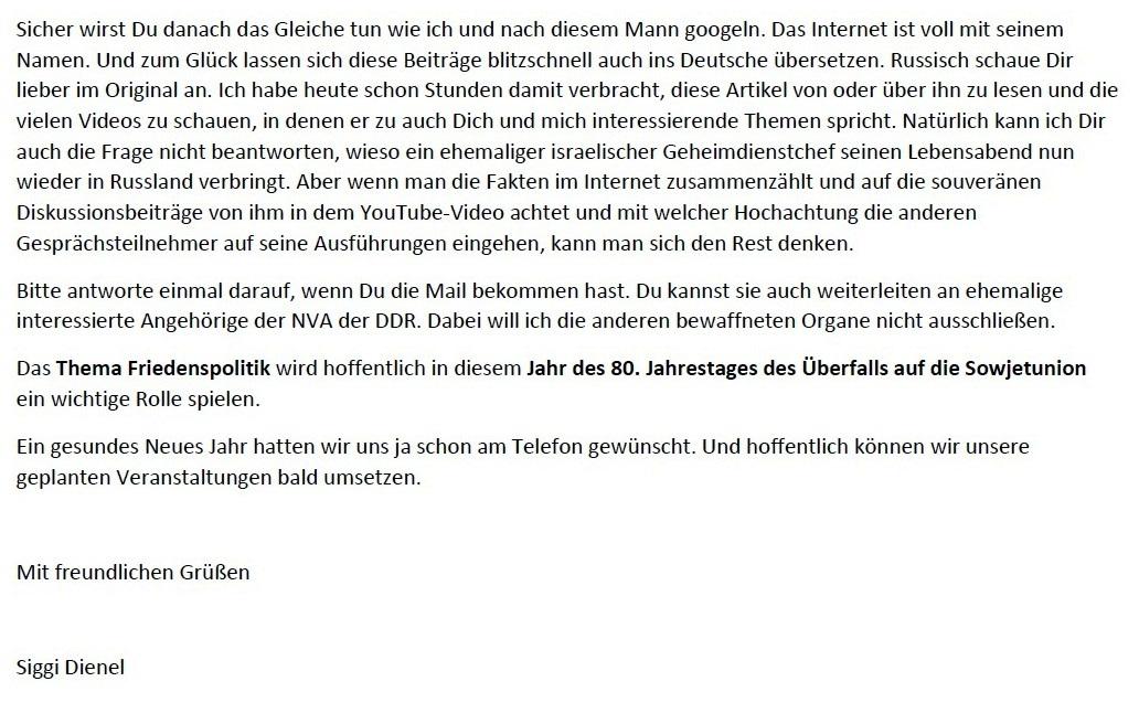 Aus dem Posteingang - Email von Siegfried Dienel vom 04.01.2021 - Brief von Gerhard Giese Strausberger Gesprächskreis weitergeleitet - Abschnitt 5
