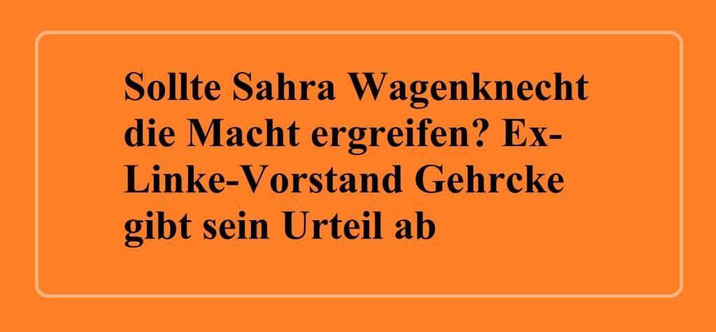 Aus dem Posteingang - Sollte Sahra Wagenknecht die Macht ergreifen? Ex-Linke-Vorstand Gehrcke gibt sein Urteil ab - 10.09.2019 - Sputnik Deutschland