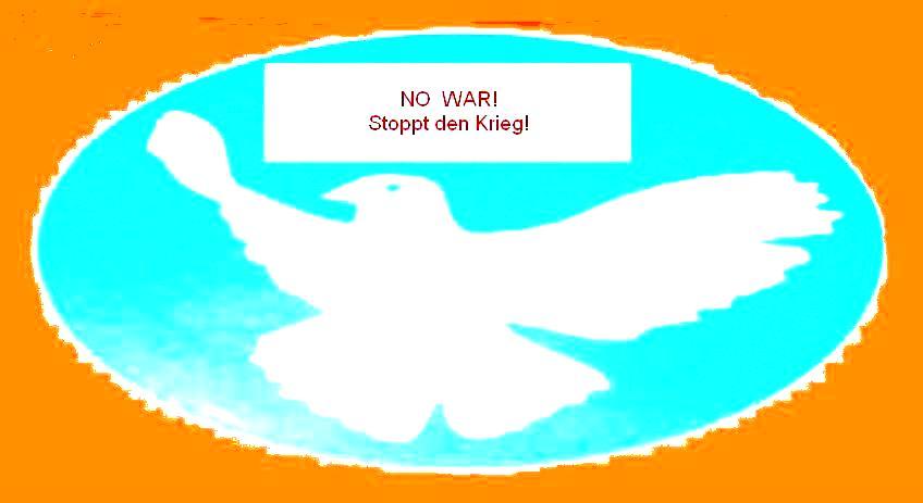 NO WAR! Stoppt den Krieg in Gaza und in der Ukraine!