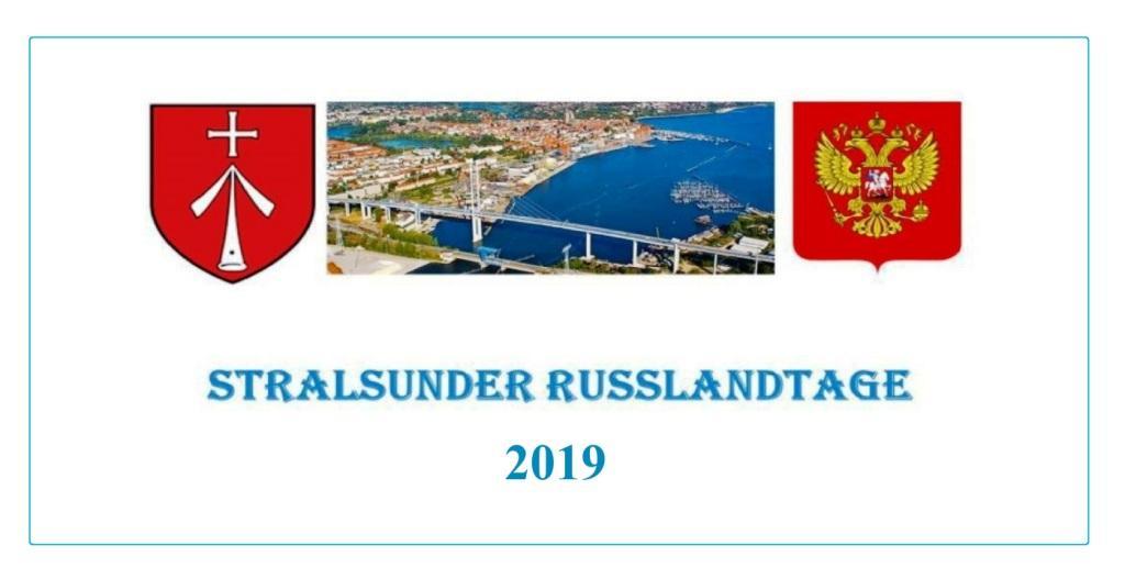 Aus dem Posteingang von Siegfried Dienel - STRALSUNDER RUSSLANDTAGE 2019 - PDF