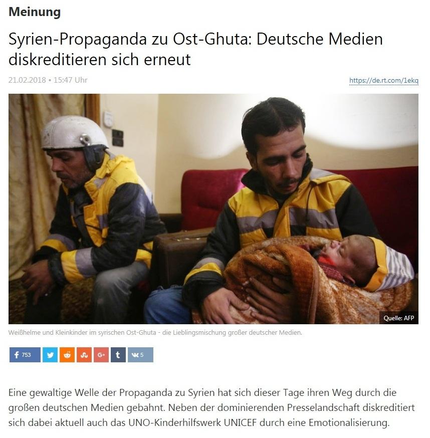 Syrien-Propaganda zu Ost-Ghuta: Deutsche Medien diskreditieren sich erneut
