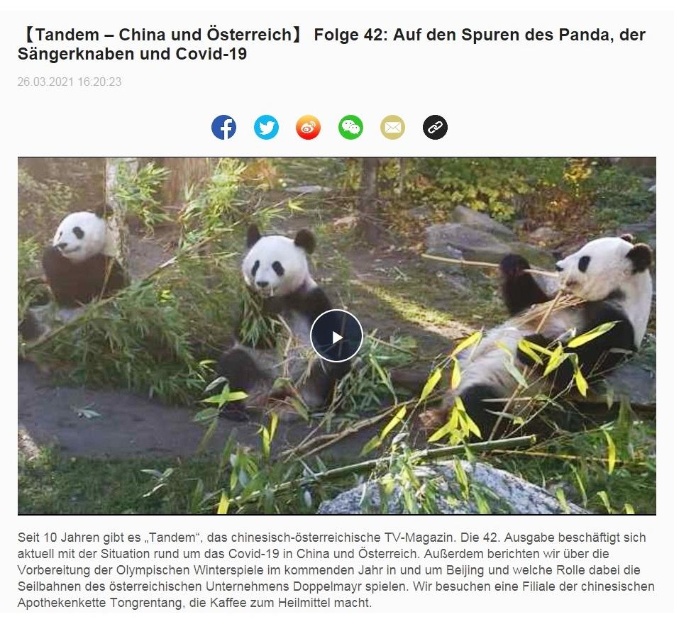 【Tandem – China und Österreich】 Folge 42: Auf den Spuren des Panda, der Sängerknaben und Covid-19 - CRI online Deutsch - 26.03.2021 16:20:23