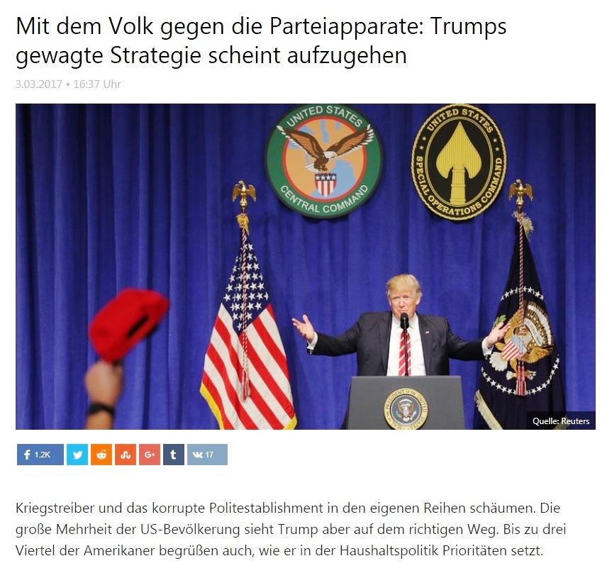 Mit dem Volk gegen die Parteiapparate: Trumps gewagte Strategie scheint aufzugehen