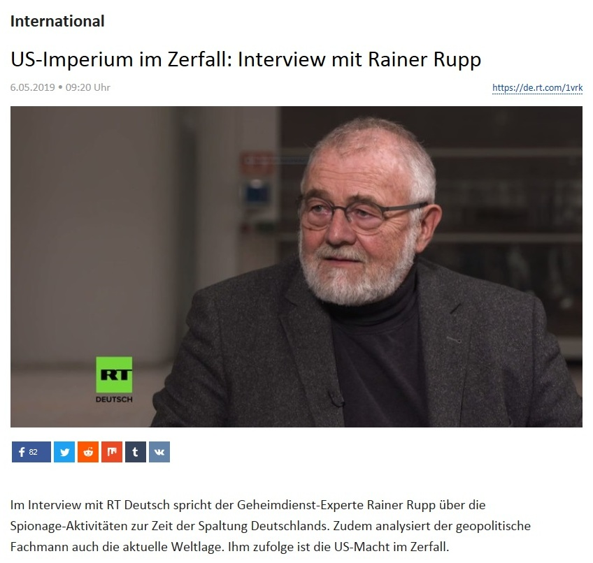 International - US-Imperium im Zerfall: Interview mit Rainer Rupp