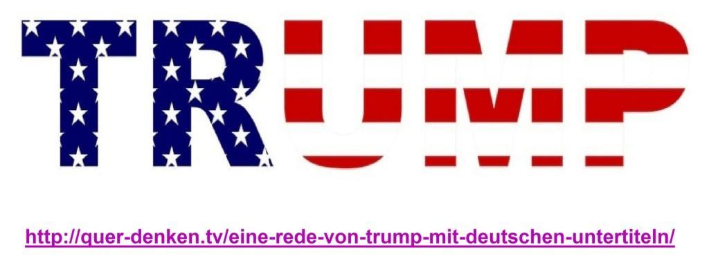 Aus dem Posteingang an Ostsee-Rundschau.de - Eine Rede von Trump – mit deutschen Untertiteln