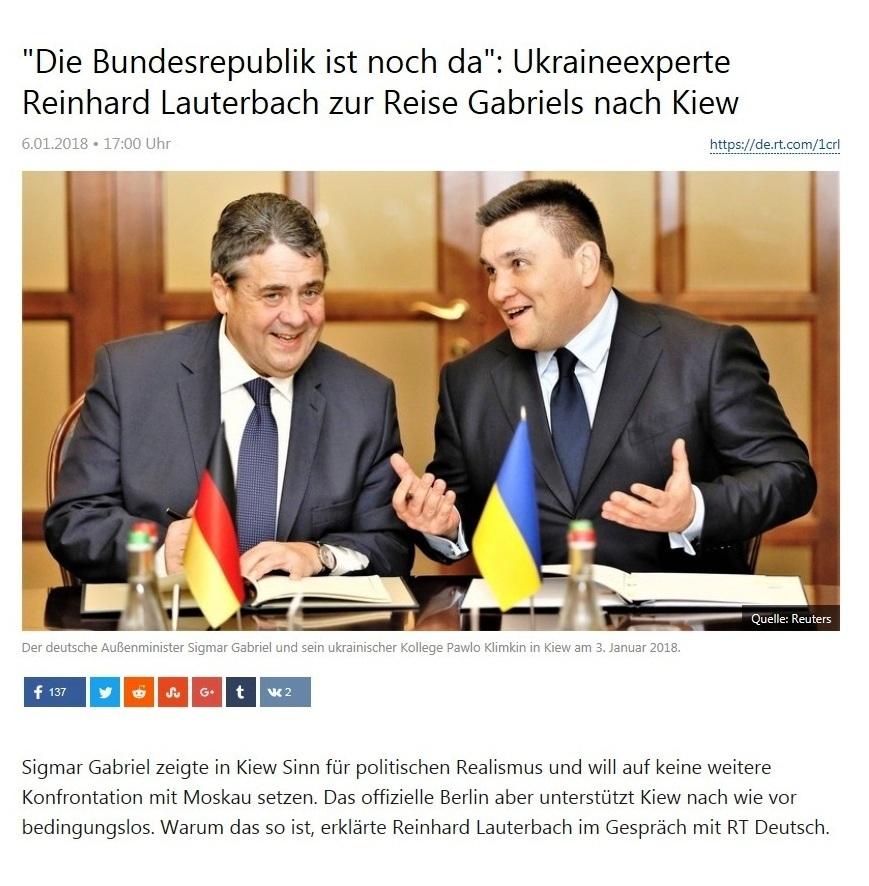 'Die Bundesrepublik ist noch da': Ukraineexperte Reinhard Lauterbach zur Reise Gabriels nach Kiew